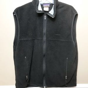 Patagonia sz L Black Fleece Vest